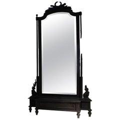 Rauch Spiegel aus Holz und schwarzem Kunstharz durch Marteen Baas