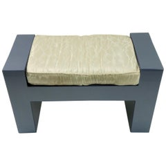Smoked Blue Grey Lucite Bench