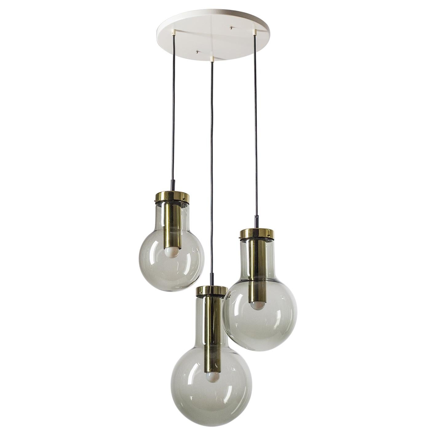Smoked Glass Chandelier by RAAK, 1970s