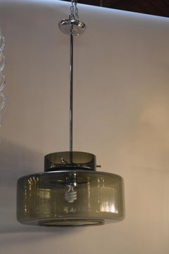 Smoked Glass Pendant Light