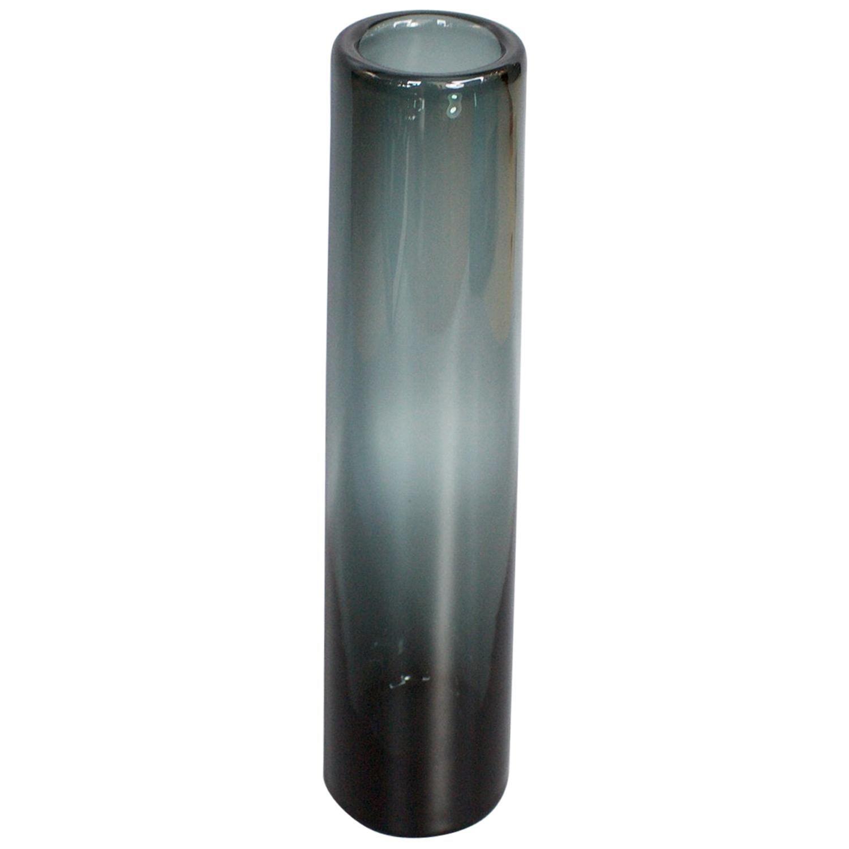 Smoked Grey Glass Vase by Per Lütken for Holmegaard Glassworks, Danish 1960s