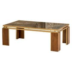 Smoked Mirror Coffee Table Attributed to Frigerio