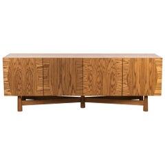 Smoked Oak 4-Door Bronson Cabinet by Lawson-Fenning
