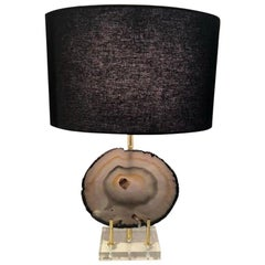 Smoked Quartz Table Lamp