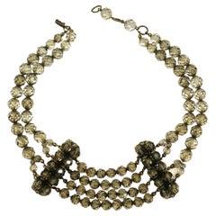 Smokey grey half crystal bead choker, Coppola e Toppo, att. Jacques Fath, 1940s