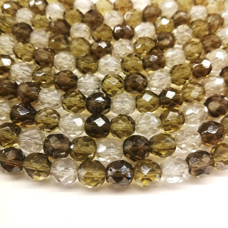 Smokey quartz, taupe and clear glass bead collar, Coppola e Toppo, early 1960s. For Sale 6