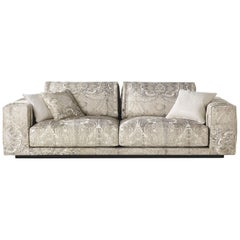 Smoking.2 Three-Seat Sofa in Fabric by Roberto Cavalli