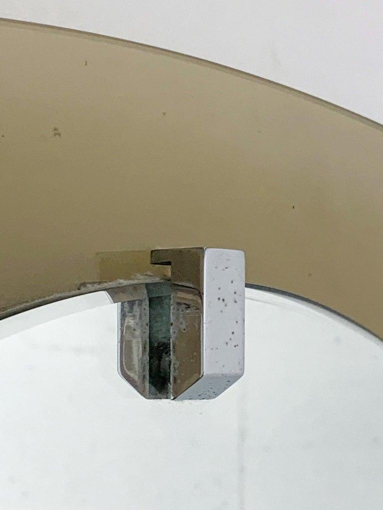 Italian Smoky Beveled Mirror by Veca For Sale