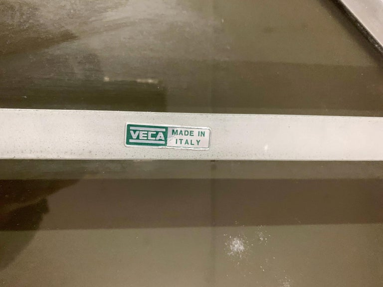 Smoky Beveled Mirror by Veca In Good Condition For Sale In Palm Springs, CA
