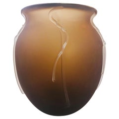Smoky Murano Vase