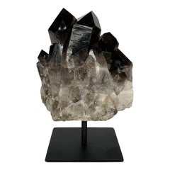Smoky Quartz Crystal Mounted Mineral Specimen