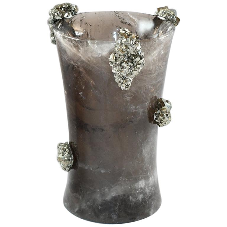 Smoky Rock Crystal Vase by Phoenix