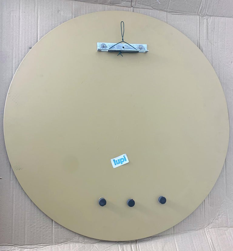 Smoky Round Mirror by Lupi In Good Condition For Sale In Palm Springs, CA