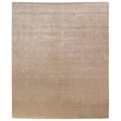 Smooth Beige Rug in Silk