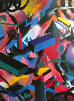 Content in Contempt - original abstract street art painting by Smurfo