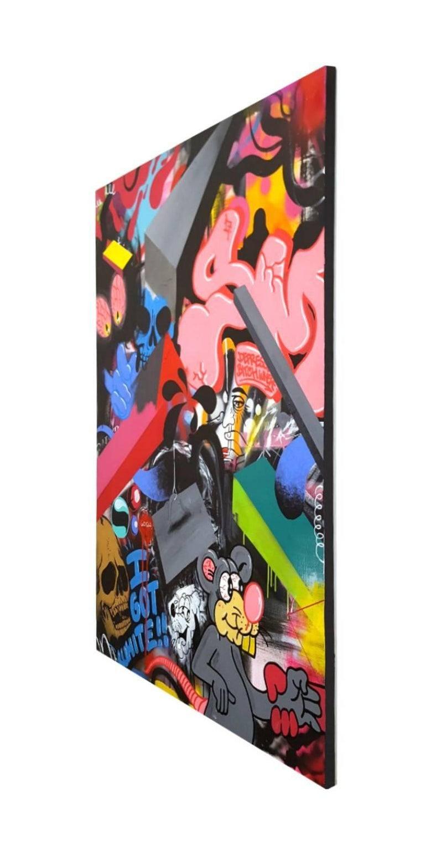 The Things I See - original street art painting by Smurfo - Street Art Painting by Smurfo Udirty