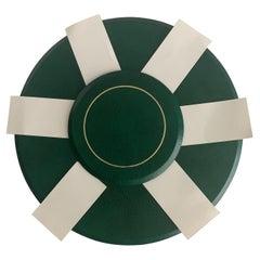 Smythson of Bond Street Green Leather Seating Chart