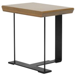 """""""SN3"""" Holz und Metall-Tisch in der Art von Pierre Chareau"""