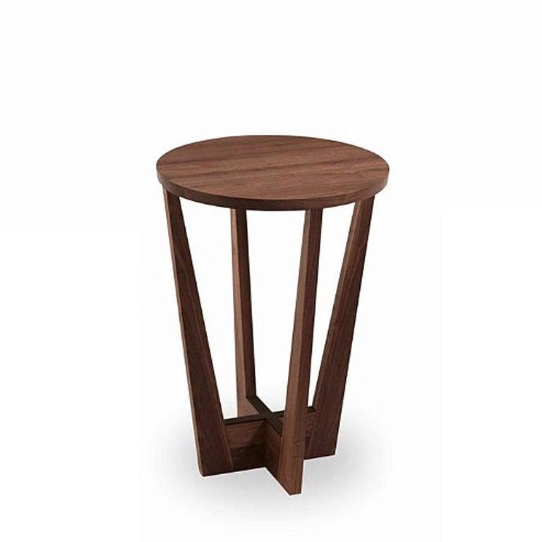 Italian Snack Full Wood Table Set of 3 For Sale