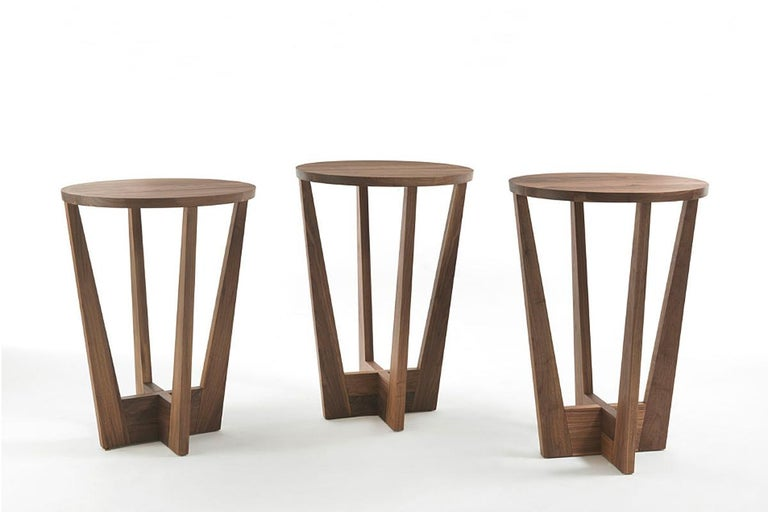 Snack Full Wood Table Set of 3 In Excellent Condition For Sale In Paris, FR