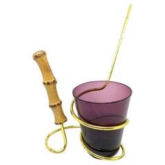 Snack Holder, Pretzel Salt Stick Holder & Purple Glass Vintage German 1950s