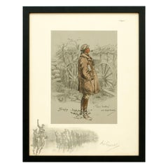 Snaffles WWI Military Print, The Gunner, Good Hunting Old Sportsman