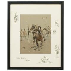 Snaffles WWI Military Print, Yi–Hai, Indian Cavalry