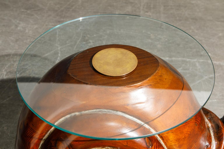 'Snail' Coffee or Side Table by Federico Armijo, 1960s Spain, Signed  7