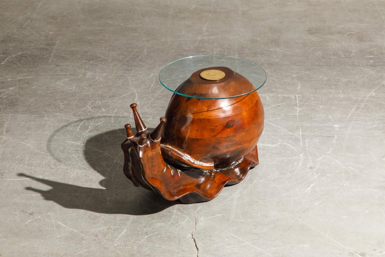 'Snail' Coffee or Side Table by Federico Armijo, 1960s Spain, Signed  In Excellent Condition In Los Angeles, CA