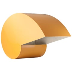 Snail Table Lamp in Yellow Lacquered Metal by G. Raimondi, circa 1970