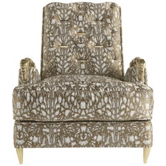 Snake Armchair in Fabric by Roberto Cavalli
