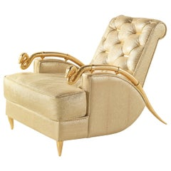 Snake Armchair in Light Leather by Roberto Cavalli