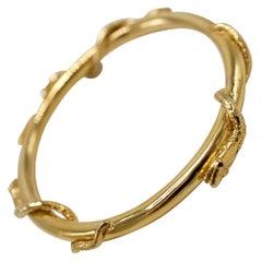 Snake Bangle Bracelet Ruby Eyes Gold Plated J Dauphin