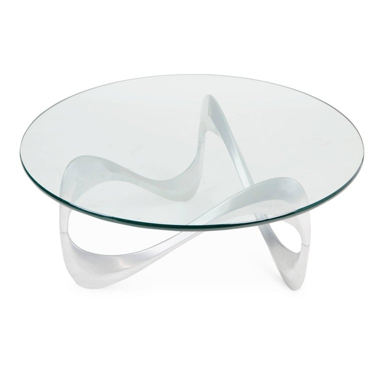 "Mid-Century Modern ""Snake"" Coffee Table by Knut Hesterberg for Ronald Schmitt, circa 1960 For Sale"