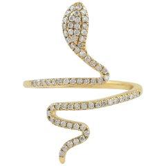 Snake Diamond 18 Karat Gold Ring