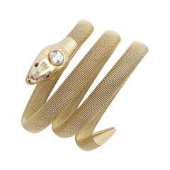 Snake Diamond Bracelet, 1940s