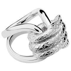 silver Snake Knotted Ring, sizes 75