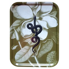 Snake Olive Green Wood Serving Tray