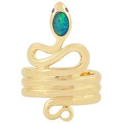 Snake Opal 18 Karat Gold Ring