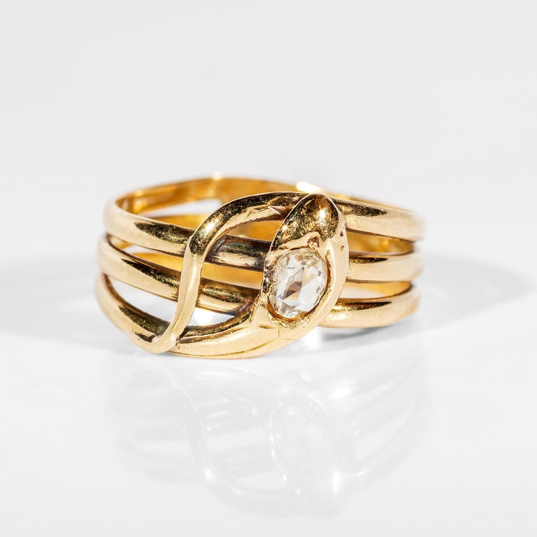 Women's or Men's Snake Ring Antique European For Sale