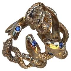 Snake Ring Tanzanite Bronze Resizable Cocktail Fashion Ring J Dauphin