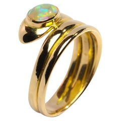 Snake Ring with Opal English circa 1876 Unisex
