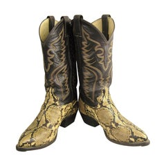 Snakeskin Cowboy boots Vintage Justin Men Women