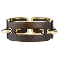Snakewood and Gold Link Bracelet by Percin for Hermès