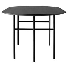 Snaregade Table, Oval, Black Legs with Charcoal Linoleum Top