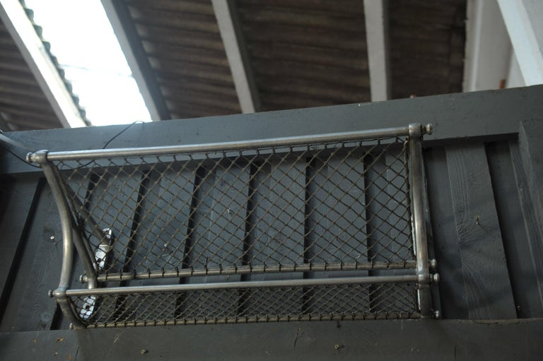 SNCF French Rail Way Luggage Rack, 1950 In Good Condition For Sale In Roubaix, FR