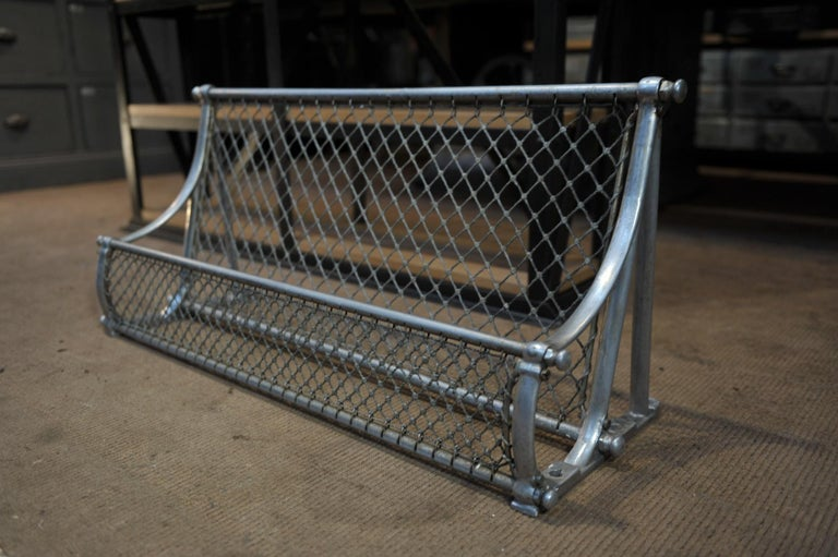 Mid-20th Century SNCF French Rail Way Luggage Rack, 1950 For Sale