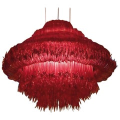 Sneeze a Chandelier in Red Resin by Jacopo Foggini
