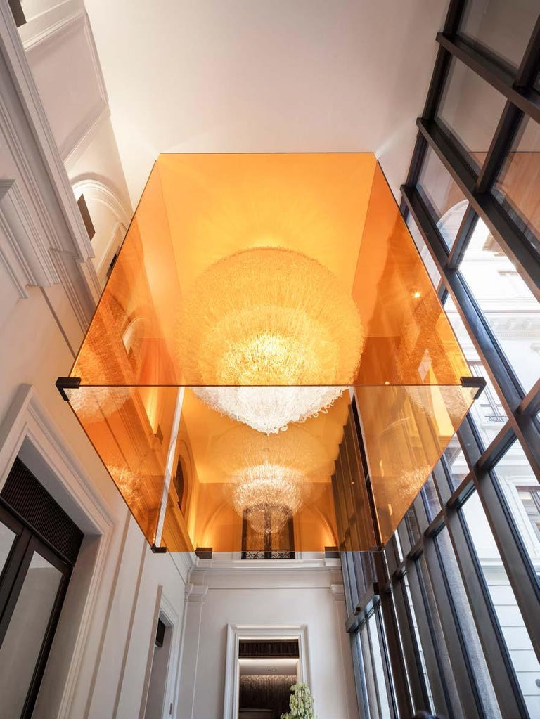 Sneeze B Chandelier in Yellow Resin by Jacopo Foggini In New Condition For Sale In New York, NY
