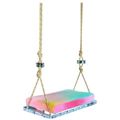 Sno-Cone Indoor Swing, Single Seat in Hand Dyed Cotton Velvet